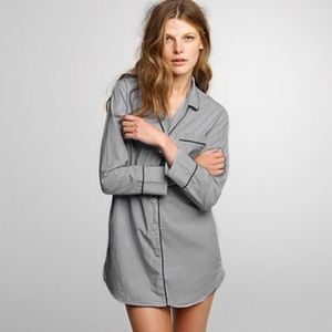 NWT J.Crew Nightshirt in End-On-End Cotton, Grey